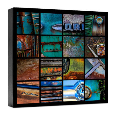 Rust Collage 1 Canvas Art