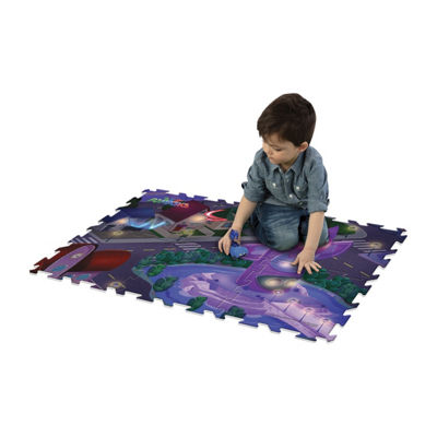Pj Masks 6Pc Mega Floor Mat With Vehicle