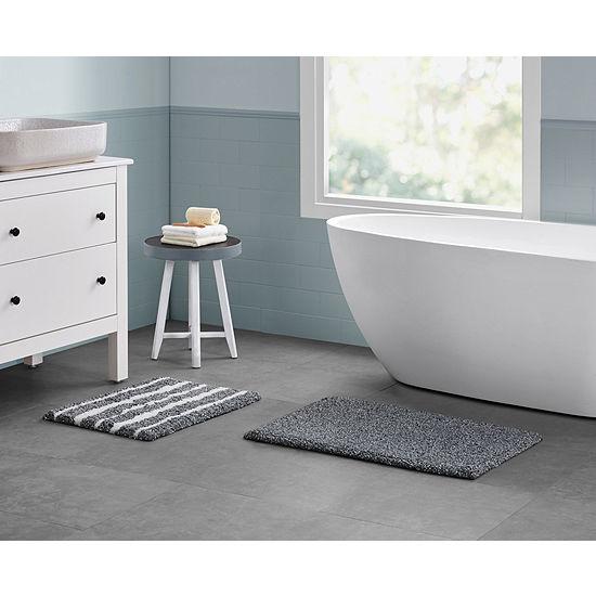 Vcny Belmar Stripe 2 Pc Bath Rug Set