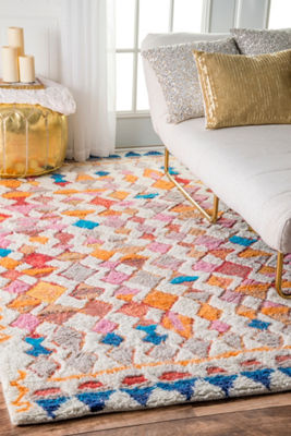 nuLoom Moroccan Helaine Shaggy Hand Tufted Rug