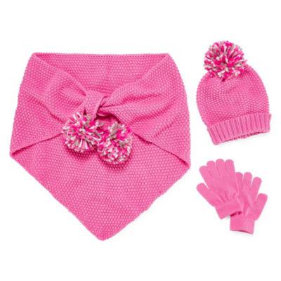 Capelli of N.Y. 3pc Scarf, Hat & Glove Set-Big Girls