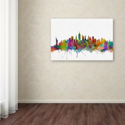 Trademark Fine Art Michael Tompsett New York CitySkyline Giclee Canvas Art