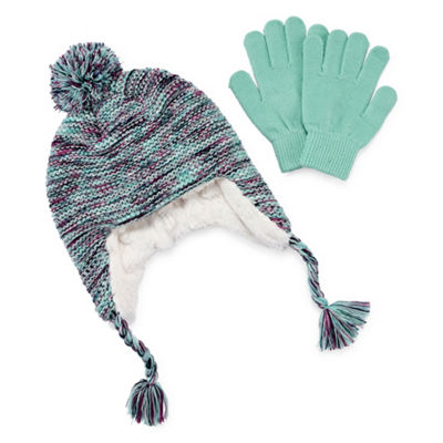 Capelli of N.Y. 2pc Hat and Glove Set-Big Girls