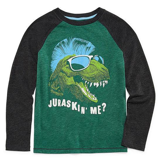 Arizona Boys Round Neck Long Sleeve Graphic T-Shirt - Preschool / Big Kid