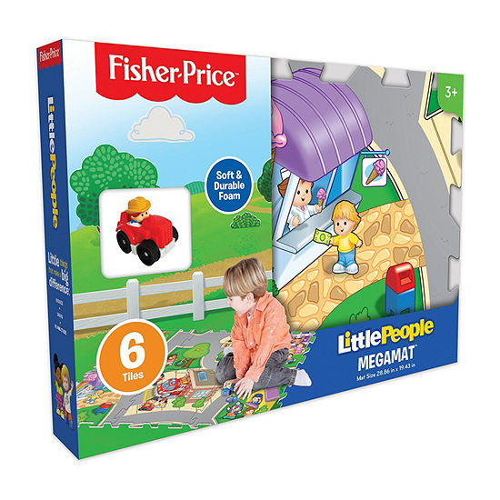 Fisher Price 6 Pc Mega Floor Mat With Vehicle