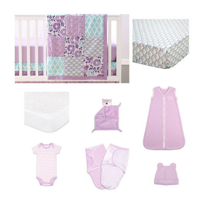 The Peanut Shell Zoe Crib Bedding Set