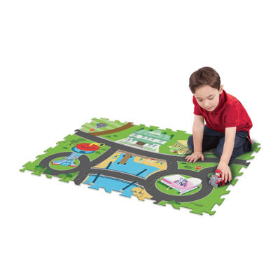 Paw Patrol 6Pc Mega Floor Mat With Vehicle