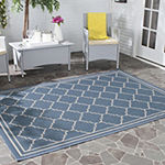 Safavieh Courtyard Collection Skin Geometric Indoor/Outdoor Area Rug