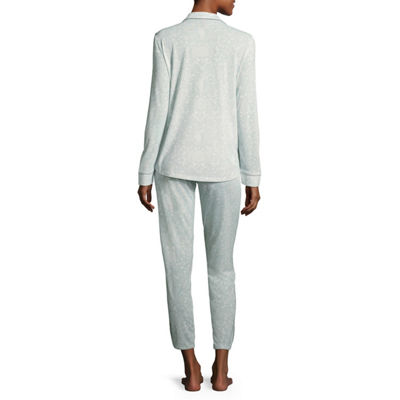 Ambrielle Notch Collar Pant Pajama Set- Talls