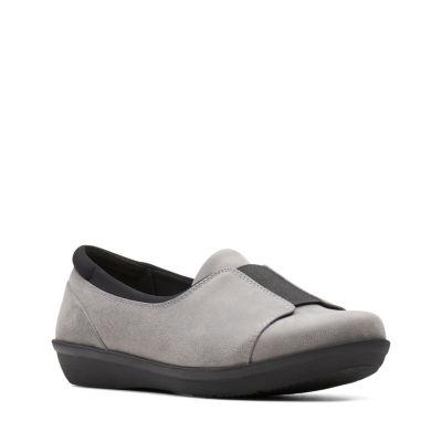 Clarks Womens Ayla Band Slip-On Shoes Slip-on Closed Toe