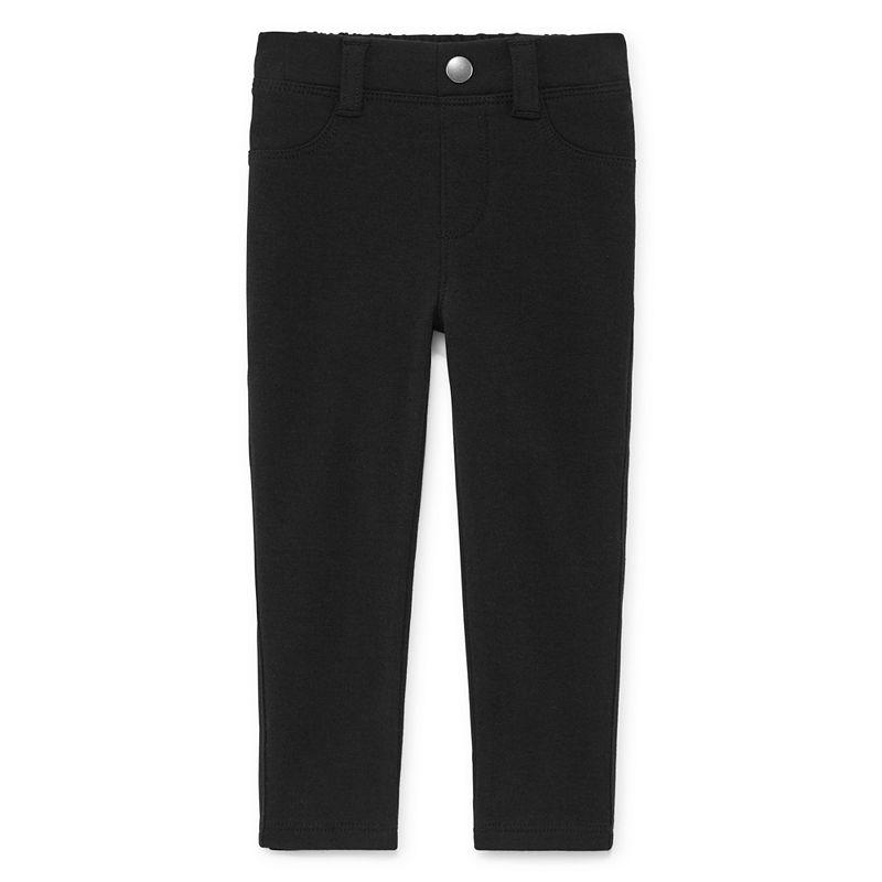 Okie Dokie Ponte Pull-On Jegging Pants, Girls, Black, Size Newborn