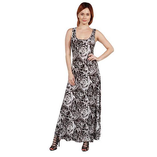 24Seven Comfort Apparel Morgana Turquoise and RedMaxi Dress - Plus