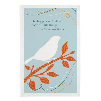 Happiness Bird Printed Dishtowel Set - Set of 3