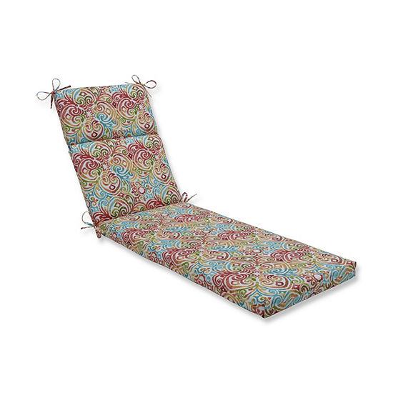 Pillow Perfect Corinthian Dapple Patio Chaise Lounge Cushion