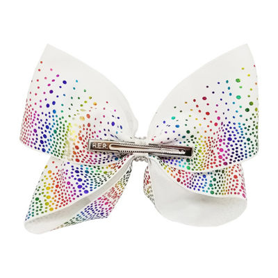 JoJo Siwa Signature White Scattered Small Rainbow Stones Bow