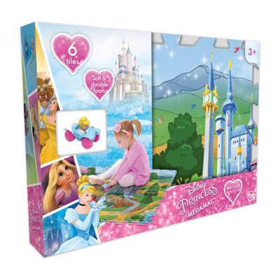 Disney Princess 6 Pc Mega Floor Mat With Vehicle