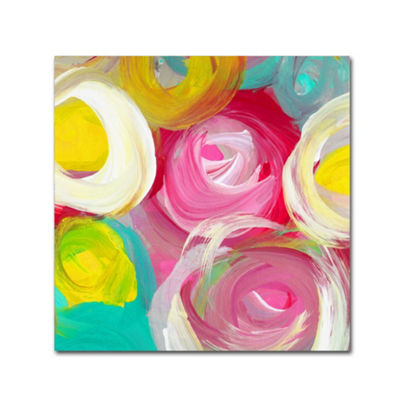 Trademark Fine Art Amy Vangsgard Rose Garden Circles Square 2 Giclee Canvas Art