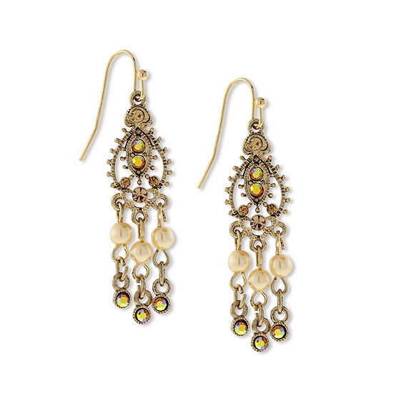 1928 Vintage Inspirations Brown Chandelier Earrings