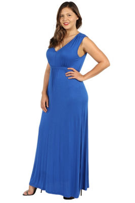 24/7 Comfort Apparel Island Fire Maxi Dress - Plus