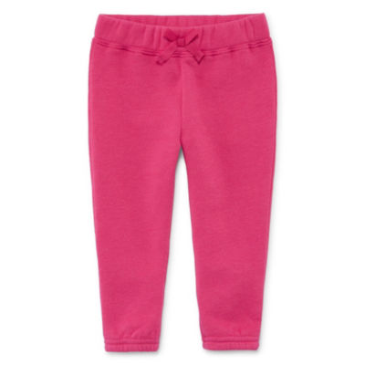 Okie Dokie Pull-On Fleece Jogger Pant - Baby Girl NB-24M