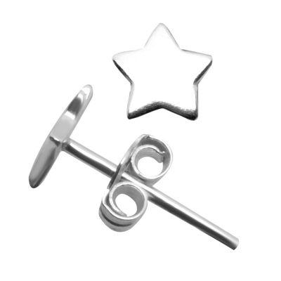 Itsy Bitsy Sterling Silver 6.1mm Star Stud Earrings