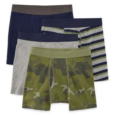 Arizona 4 Pair Boxer Briefs Husky Boys