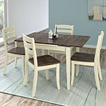 CorLiving Dillon 5pc Extendable Rectangular Solid Wood Dining Set