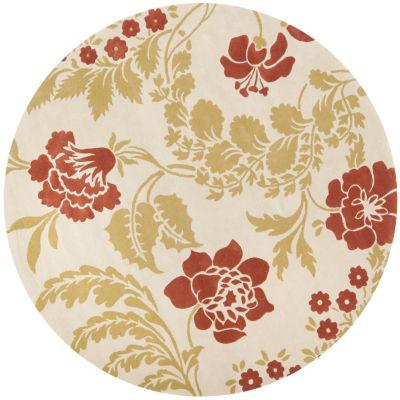 Safavieh Capri Collection Ilbert Floral Round Area Rug