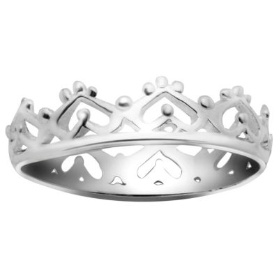 Itsy Bitsy Womens 4.5mm Sterling Silver Band