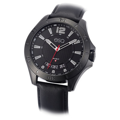 Esq Mens Black Strap Watch-37esq018001a