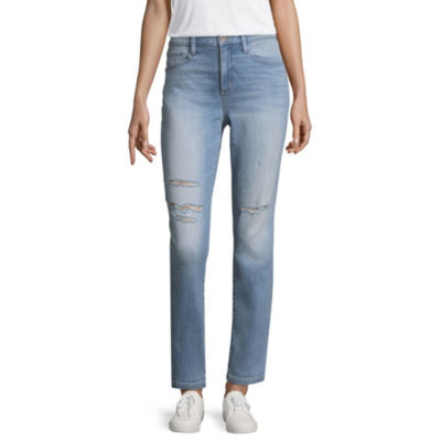 Arizona High-Rise Straight Leg Jeans-Juniors