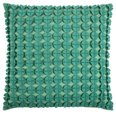 Rizzy Home Michael Transitional Flowers And Flourish Decorative Pillow
