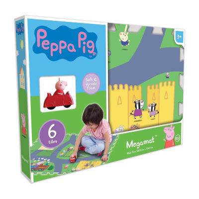 Peppa Pig  6Pc Mega Floor Mat With Vehicle
