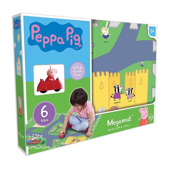 Peppa Pig  6Pc Mega Floor Mat With Vehicle