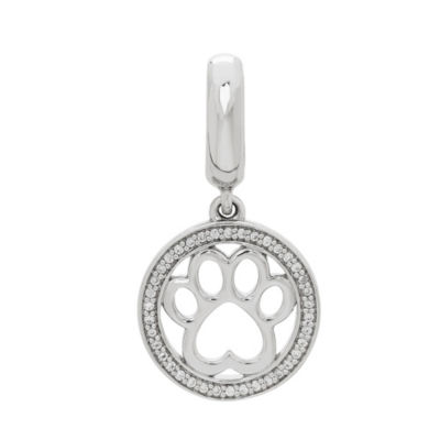Ps Personal Style White Cubic Zirconia Sterling Silver Charm