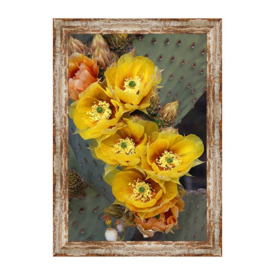 Blind Prickly Pear Framed Canvas Art