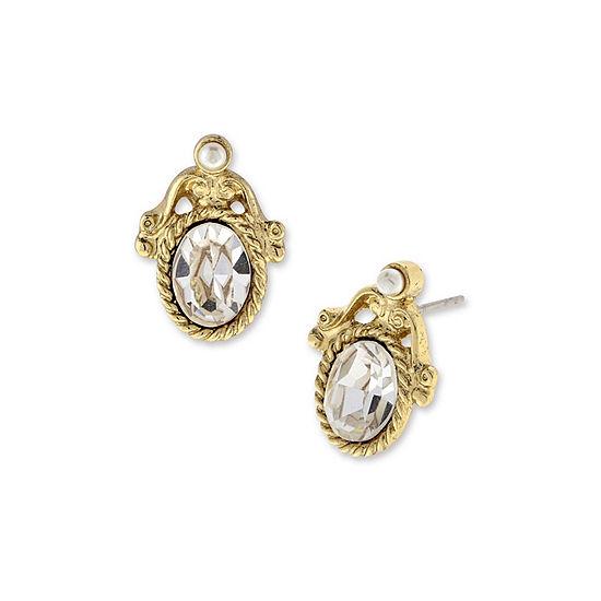 1928 Vintage Inspirations Oval Stud Earrings
