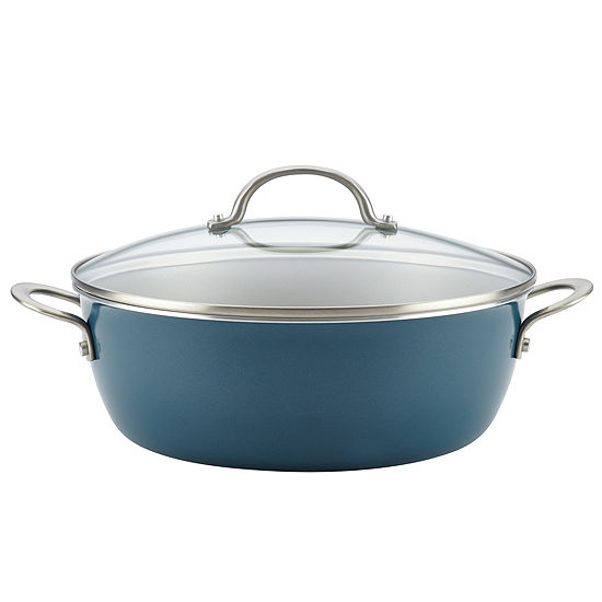 Ayesha Curry™  Home Collection 7.5-Qt. Covered Stockpot Aluminum Non-Stick Stockpot