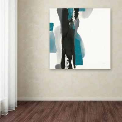 Trademark Fine Art Chris Paschke Black and Teal IIGiclee Canvas Art