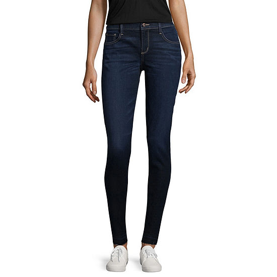 Arizona Slim Fit Ankle Jeans-Juniors