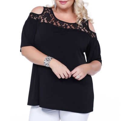 Kaily K. Cold Shoulder Pullover - Plus