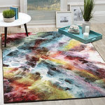 Safavieh Galaxy Collection Layne Geometric Square Area Rug