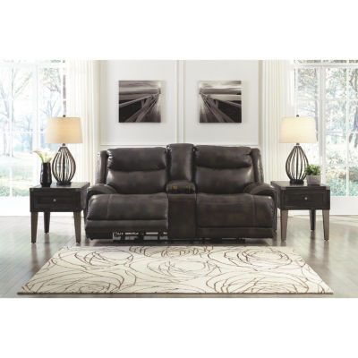 Signature Design By Ashley® Brinlack Power Reclining Loveseat With Console