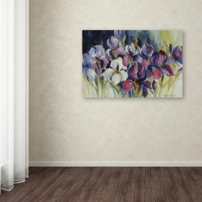 Trademark Fine Art Rita Auerbach White Iris GicleeCanvas Art