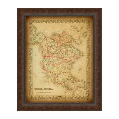Map Of North America Framed Print