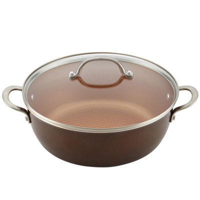 Ayesha Curry Home Collection 7.5-Qt. Covered Stockpot Aluminum Non-Stick Stockpot