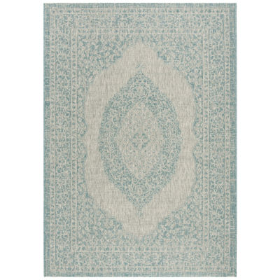 Safavieh Courtyard Collection Adria Oriental Indoor/Outdoor Area Rug