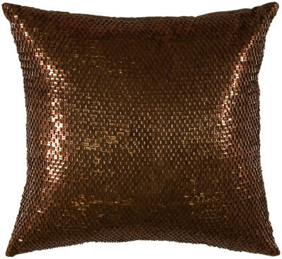 Rizzy Home Tyler Transitional Solid Decorative Pillow