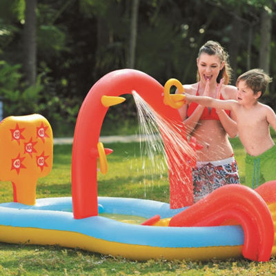 "88.5"" Inflatable Children's Interactive Water Play Center with Slide"