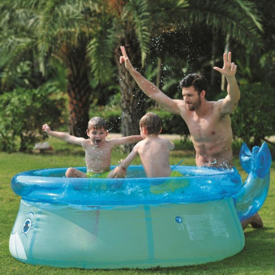 """69"""" x 24.5"""" Inflatable Whale Above Ground Children's Swimming Pool"""